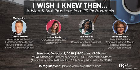 I Wish I Knew Then: Advice and Best Practices from PR Professionals tickets