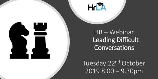 HR - Leading Difficult Conversations