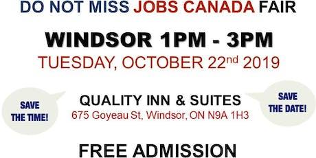 Windsor Job Fair – October 22nd, 2019 tickets
