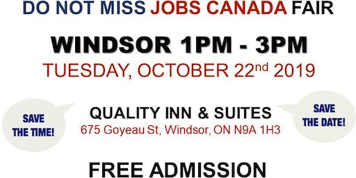 Windsor Job Fair – October 22nd, 2019