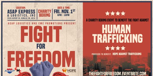 The Fight for Freedom: A Charity Boxing Event to Fight Human Trafficking