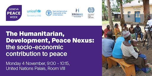 The Humanitarian, Development, Peace Nexus: the socio-economic contribution