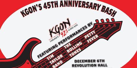 KGON 45th Anniversary tickets