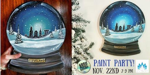 Cleveland Snow Globe | Painting + Yoga!