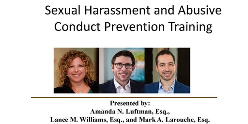 BOL Presents: Sexual Harassment and Abusive Conduct Prevention Training