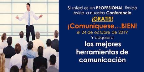 Conferencia GRATIS de Comunicación para PROFESIONALES tímidos en BOGOTÁ entradas
