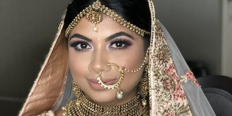 South Asian Bridal Hairstyling & Makeup Course  tickets