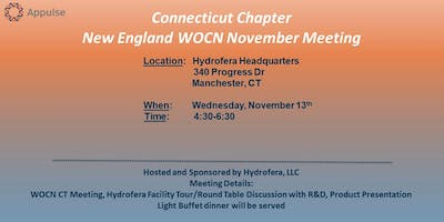 Connecticut Chapter NE WOCN November Meeting/Hydrofera Tour