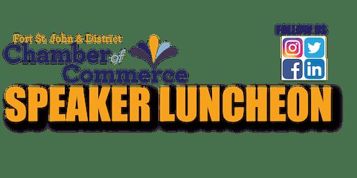 Chamber Speaker Luncheon - 2020 Winter Games