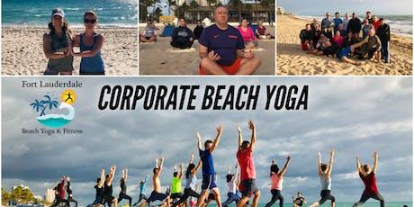 Corporate Beach Yoga | $10 at door tickets
