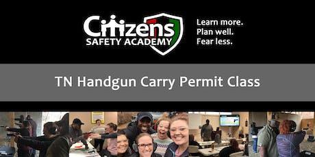Handgun Carry Permit Class tickets