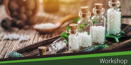 """Workshop """"Homeopatia no Tratamento de Doenças Agudas"""" bilhetes"""
