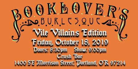 Booklover's Burlesque: Vile Villains tickets