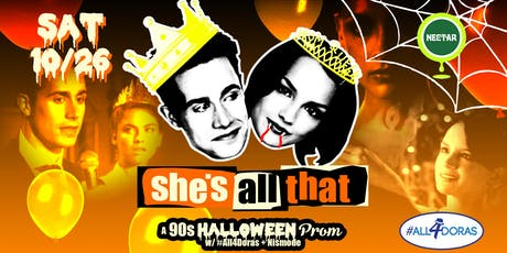 She's All That: A '90s Halloween Prom Party (Prom Attire and Halloween Costumes Highly Encouraged!) tickets