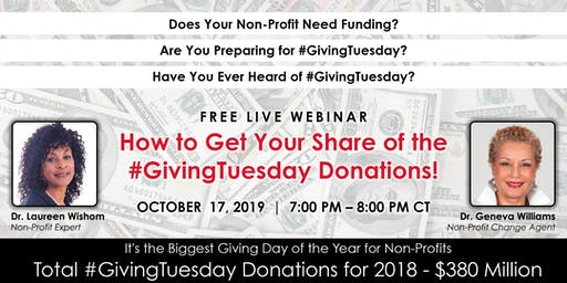 How to Get Your Share of the #GivingTuesday Donations!