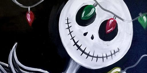 Nightmare Before Xmas Painting at Leo's