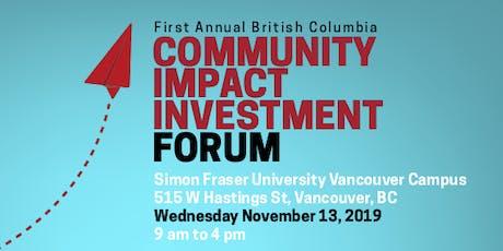 BC Community Impact Investment Forum tickets