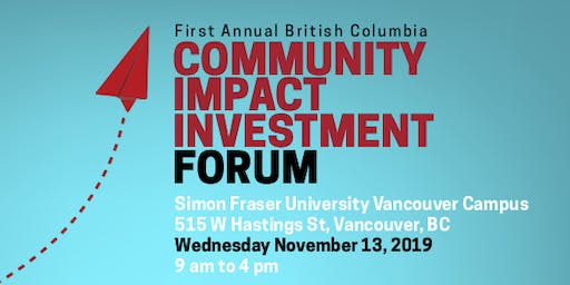 BC Community Impact Investment Forum
