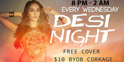 BYOB DESI NIGHT at Majlis Hookah Lounge Every Wednesday!