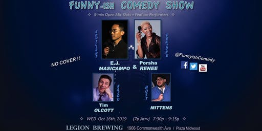 Funny-ish Comedy: Oct OpenMic+Showcase (FREE)