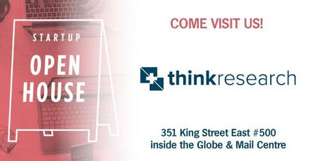 Startup Open House 2019 @ Think Research tickets