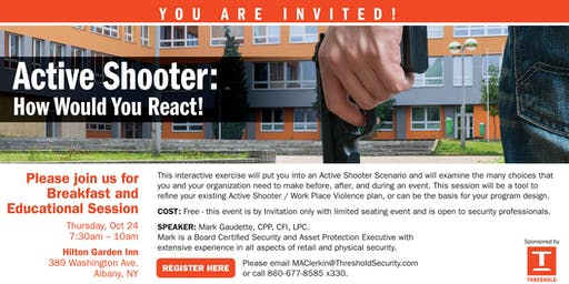 Active Shooter Education Seminar and Breakfast