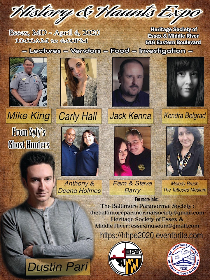 History and Haunts Paranormal Expo 2020 image