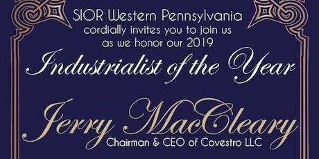 SIOR Industrialist of the Year Award Honoring Jerry MacCleary tickets