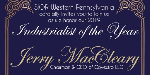SIOR Industrialist of the Year Award Honoring Jerry MacCleary