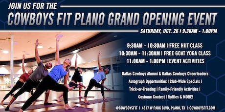 Cowboys Fit Plano Grand Opening tickets