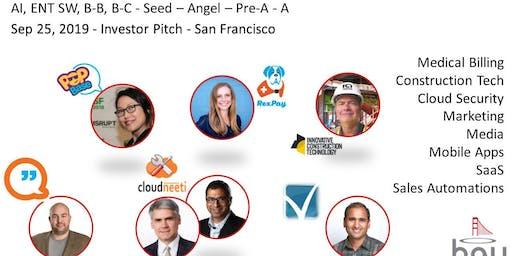 Bay Angels Investors Event - September 25, 2019- San Francisco