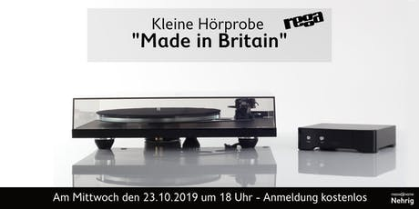 "Rega, ""Made in Britain – Das englische Drehmoment"" in Celle Tickets"