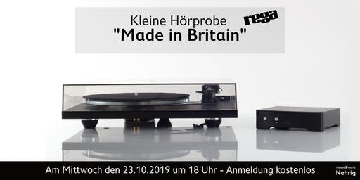 "Rega, ""Made in Britain – Das englische Drehmoment"" in Celle"
