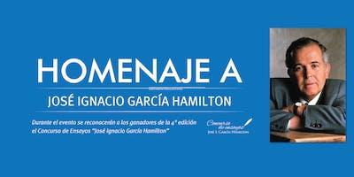Homenaje a José Ignacio García Hamilton.
