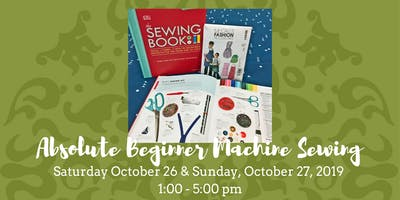 Absolute Beginner Machine Sewing - October 26, 2019