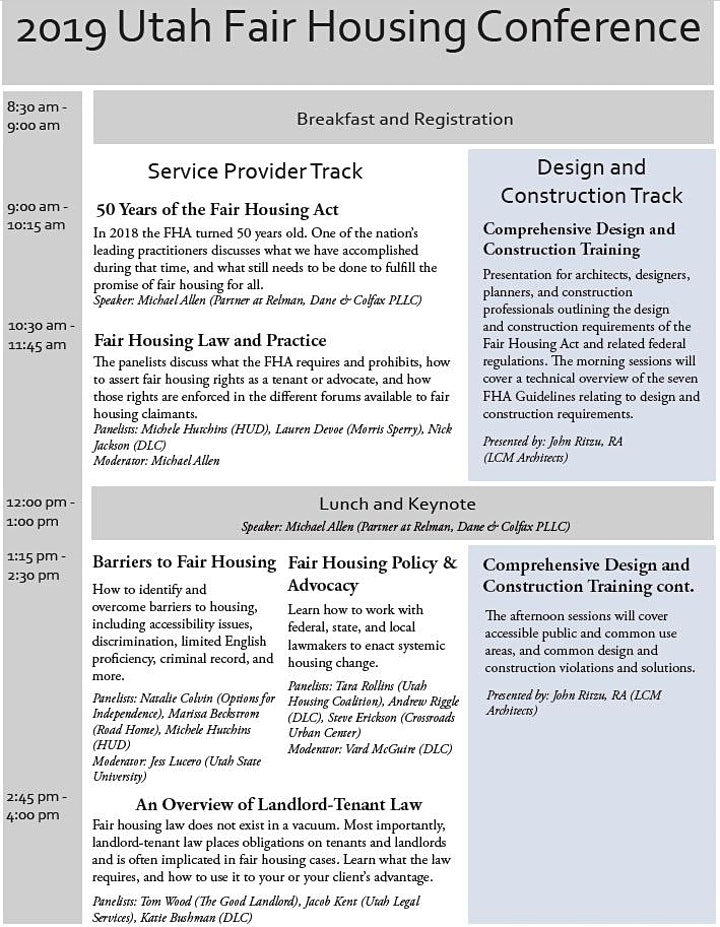 Fair Housing Conference image