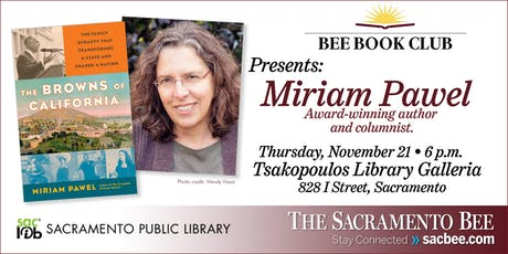 Bee Book Club presents: author Miriam Pawel, 'The Browns of California' tickets