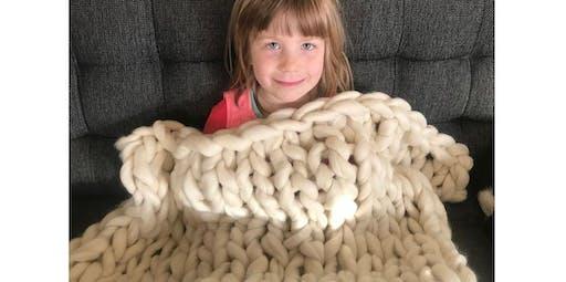 Giant Knit Blanket Workshop (12-14-2019 starts at 10:00 AM)