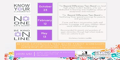 Beyond Differences Parent Workshops