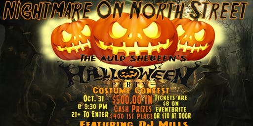 Nightmare on North Street (an Auld Shebeen Halloween Party)