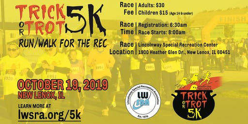 Heather Glen Trick or Trot 5k...Run/Walk for the Rec