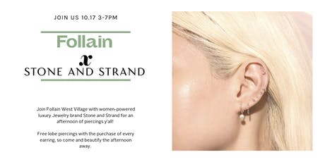 Piercings Y'all! Pop-Up With Follain & Stone and Strand tickets