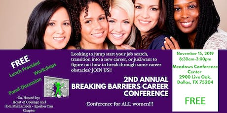 2019 Breaking Barriers Career Conference - For Women tickets