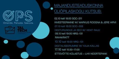 OPS: Digiturundus ja SEO w/ Kent Raju tickets