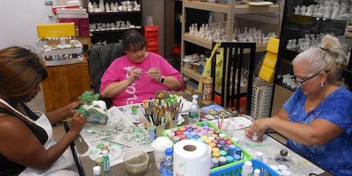 Ceramic Classes: Painting your own pieces with acrylics