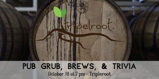 Pub Grub, Brews, and Trivia!