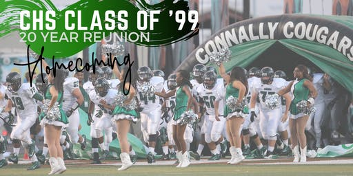CHS 20 year reunion - HOMECOMING game 10/25