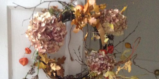Autumn/Halloween wreath making with afternoon tea