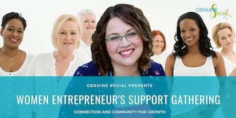 November Women Entrepreneur's Support Gathering - Genuine Social(TM) tickets