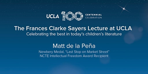 2020 Frances Clarke Sayers Lecture | Matt de la Peña